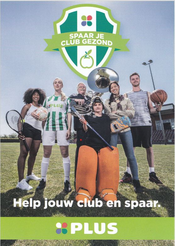 Geef jouw club een steuntje in de rug en spaar jouw club gezond!