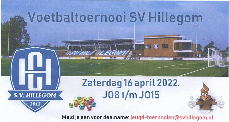Jeugdtoernooi op Paaszaterdag 16 april 2022