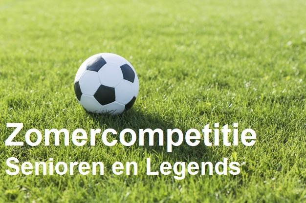 Eindstand zomercompetitie Senioren en Legends.